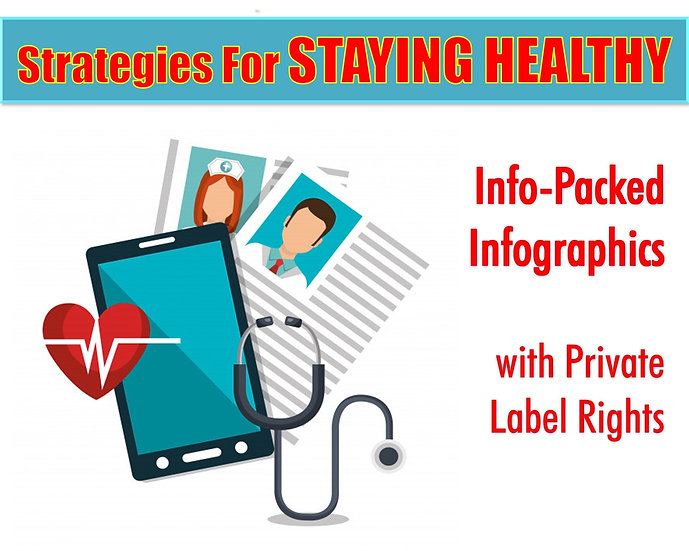 Strategies For Staying Healthy Infographics