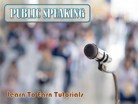 Public Speaking Free Learn To Earn Tutorials