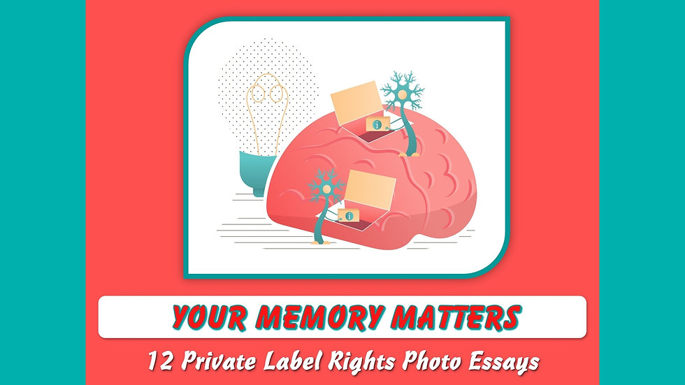 Your Memory Matters Private Label Content Pack