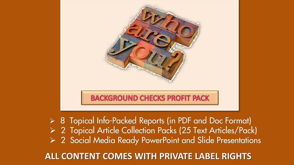 Background Checks Private Label Profit Pack