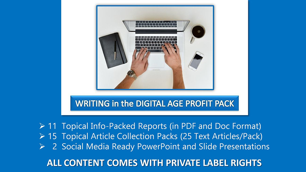 Writing in The Digital Age Private Label Profit Pack