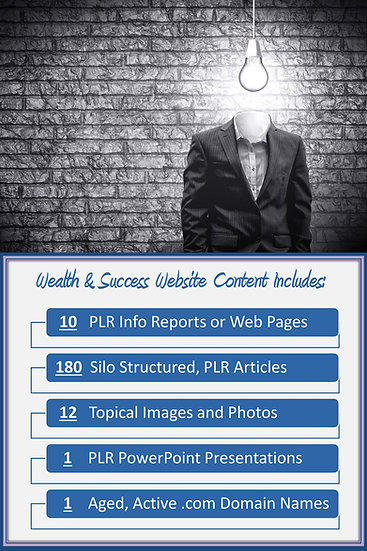Wealth and Success Turnkey Content Site