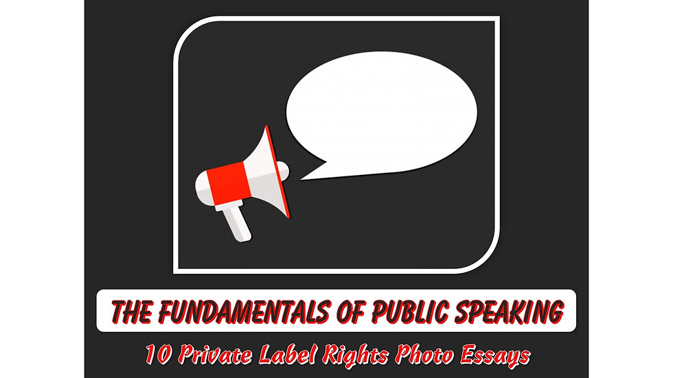 Fundamentals of Public Speaking Private Label Content Pack
