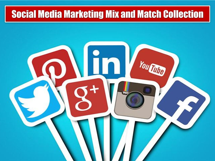 Social Media Marketing MIX and MATCH GRAPHICS Collection