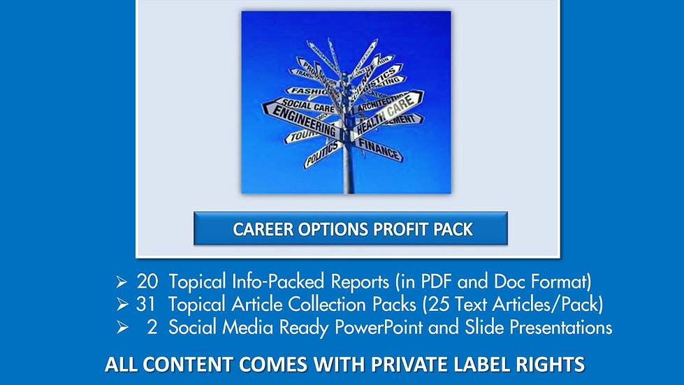 Career Options Private Label Profit Pack