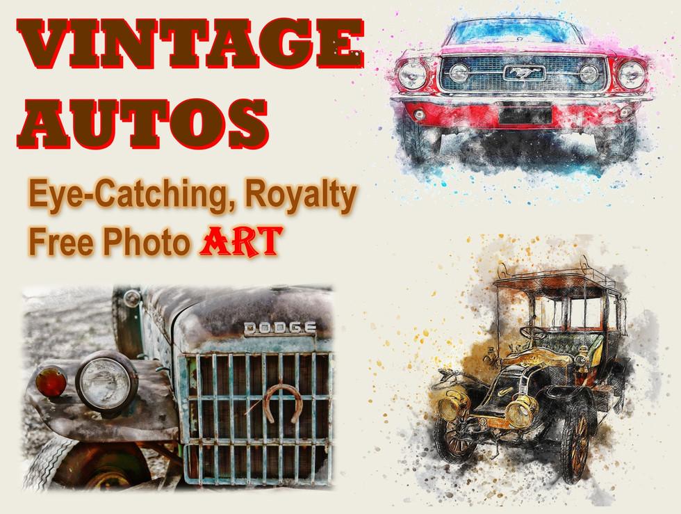 Vintage Autos Photo Art Collection