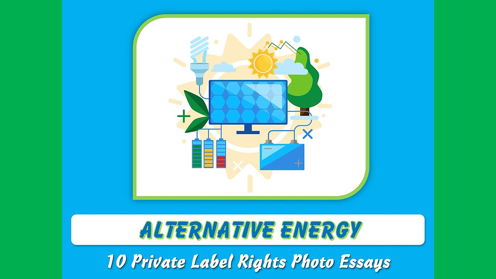 Alternative Energy Private Label Content Pack