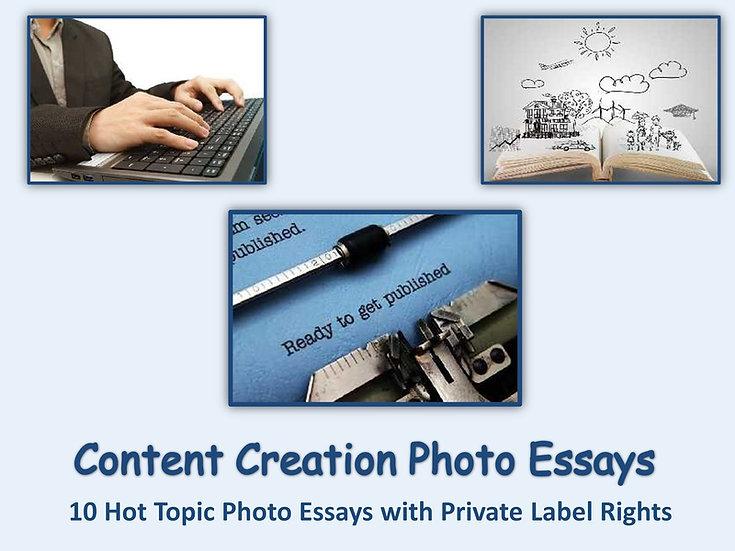 10 PLR Content Creation Photo Essays