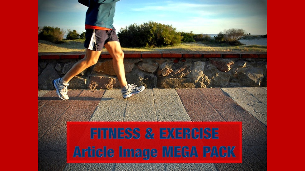 Fitness and Exercise PLR Article and Image MEGA Pack