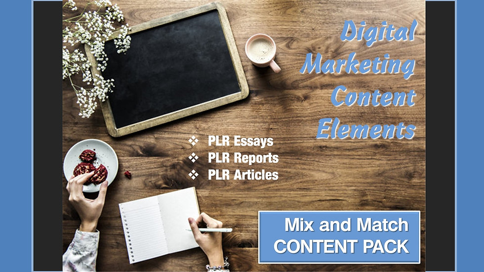 Digital Marketing Mix and Match CONTENT Collection