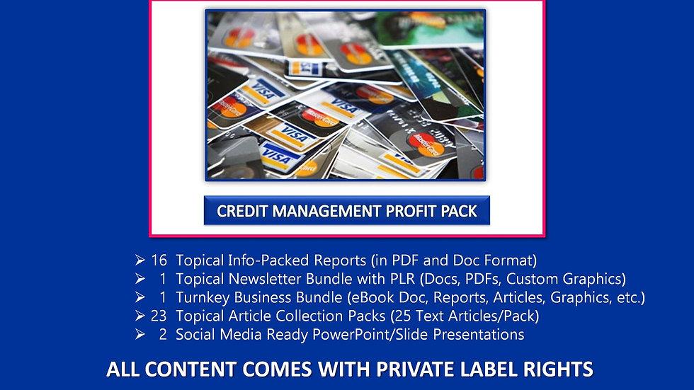Credit Management Private Label Profit Pack