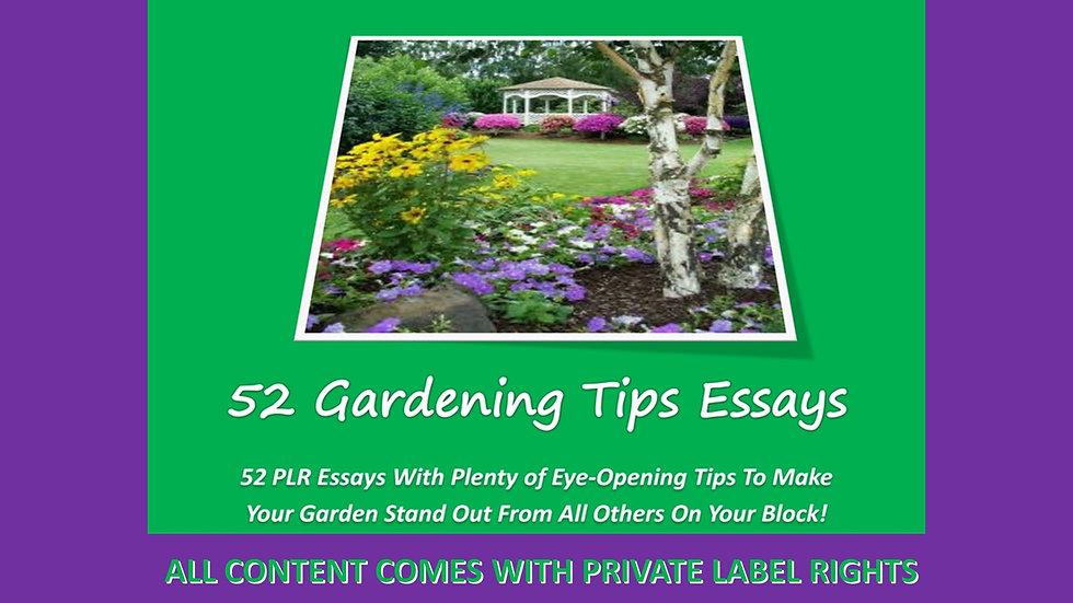Gardening Tips Photo Essay Series