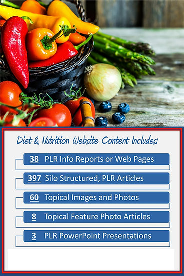 Diet and Nutrition Turnkey Content Sites