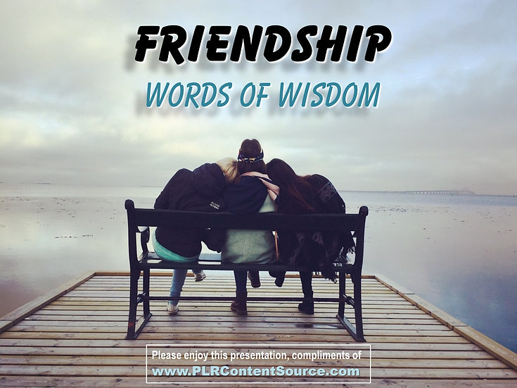 Friendship Words of Wisdom Video Quote Collection