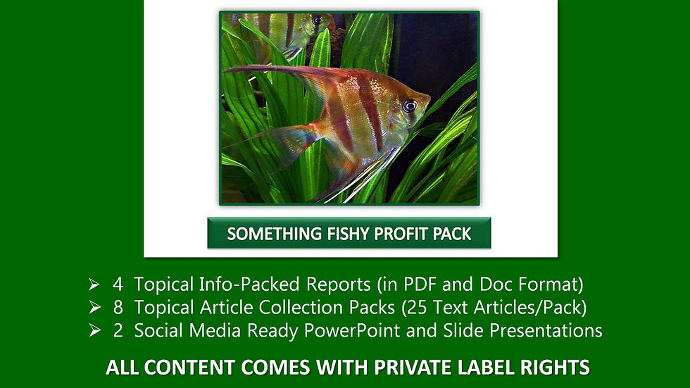 Something's Fishy Private Label Profit Pack