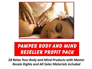 Pamper Your Body and Mind Reseller Profit Pack