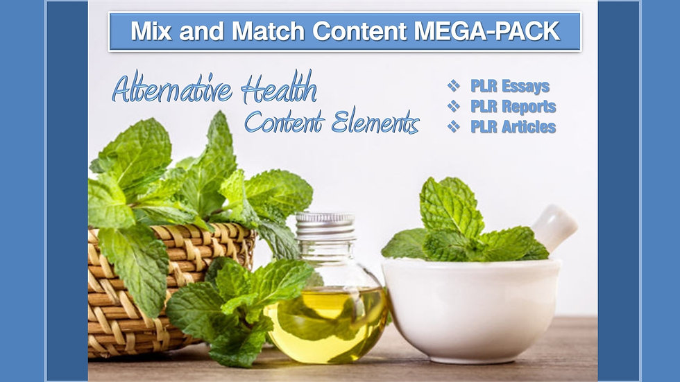 Alternative Health Mix and Match CONTENT Collection