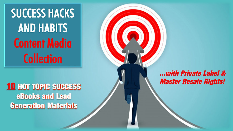 Success Hacks and Habits Content Media Collection