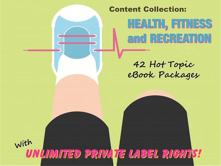 Health, Fitness and Recreation Content Collection with Unrestricted PLR