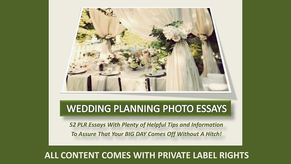 Wedding Planning Private Label Photo Essays