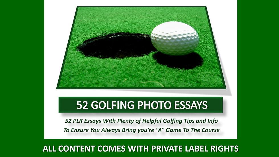 52 Golf Private Label Photo Essays