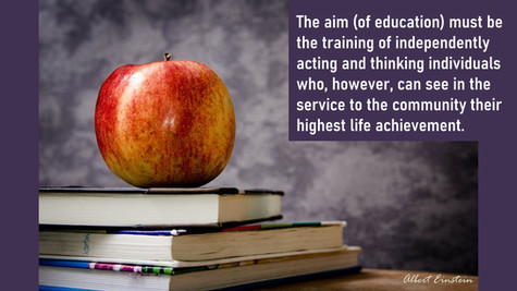The Aim of Education