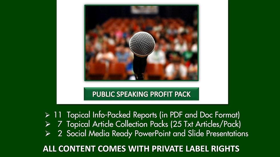 Public Speaking Private Label Profit Pack