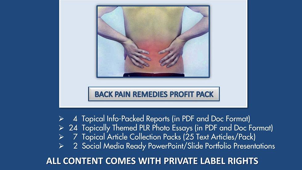 Back Pain Remedies Private Label Profit Pack