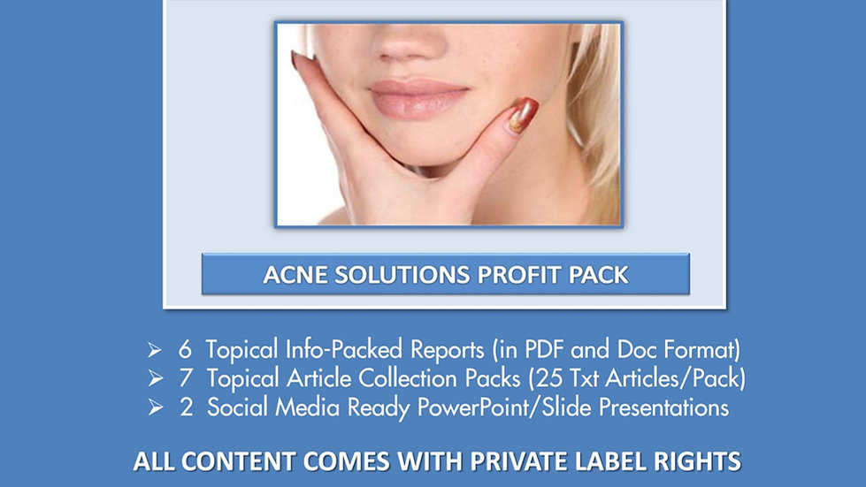 Acne Solutions Private Label Profit Pack