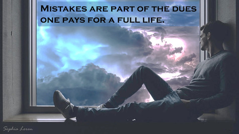 Mistakes are part of the dues one pays