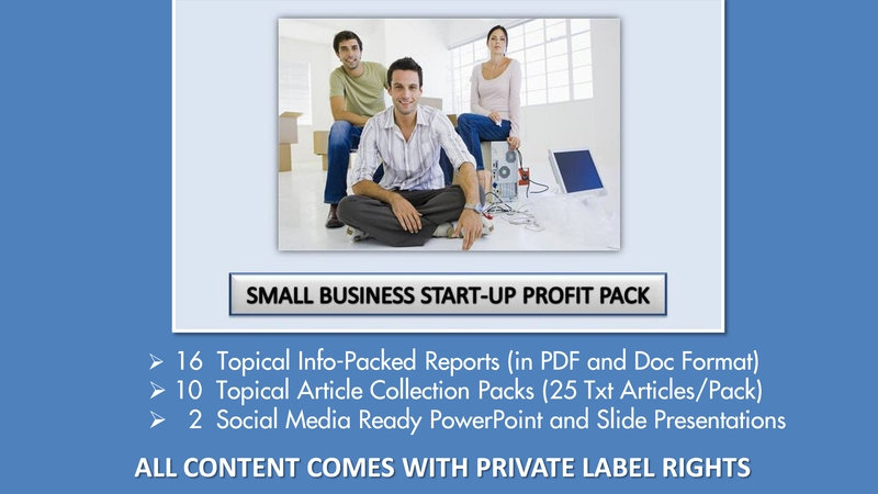 Small Business Startup Private Label Profit Pack
