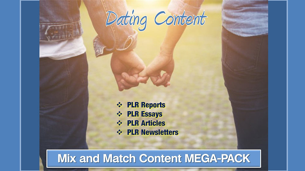 Dating Advice Mix and Match CONTENT Collection