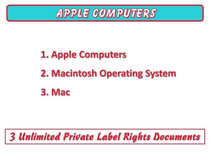 Apple Computes PLR Content