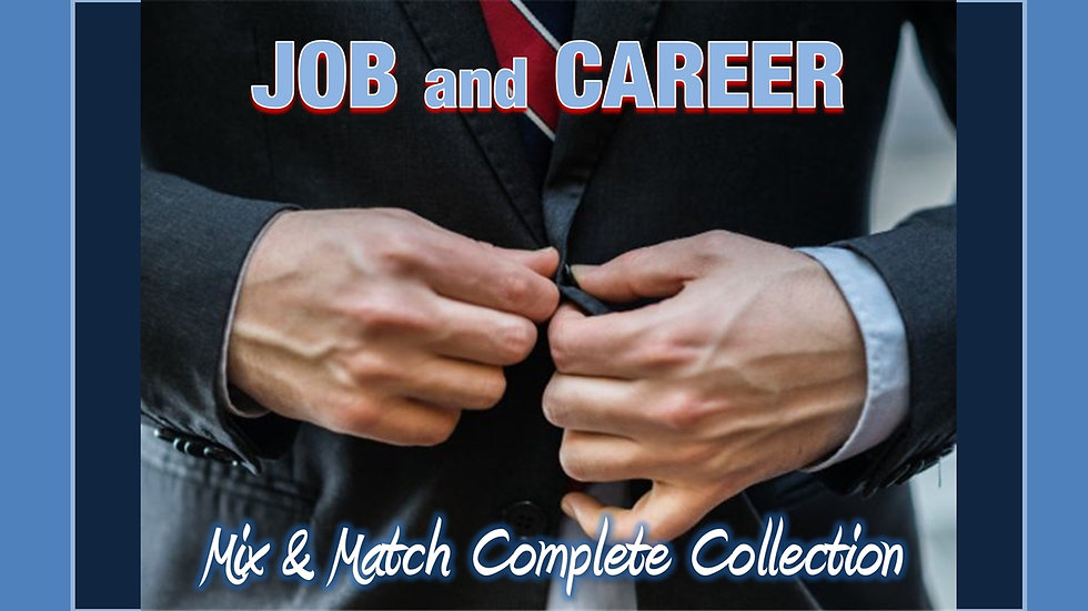 Job and Career Mix and Match COMPLETE Collection