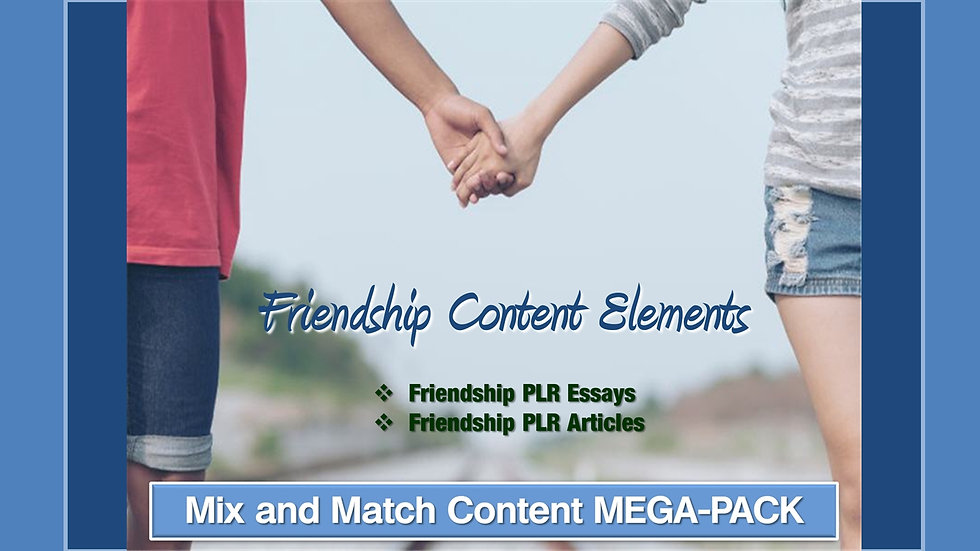 Friendship Mix and Match CONTENT Collection