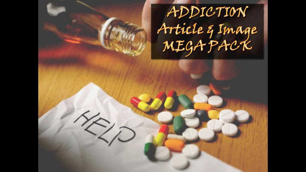 Addiction PLR Article and Image MEGA Pack