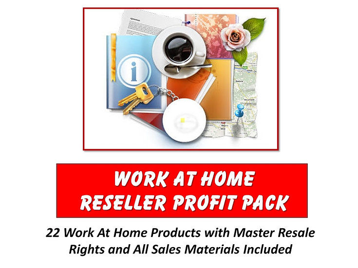 Work at Home Reseller Profit Pack