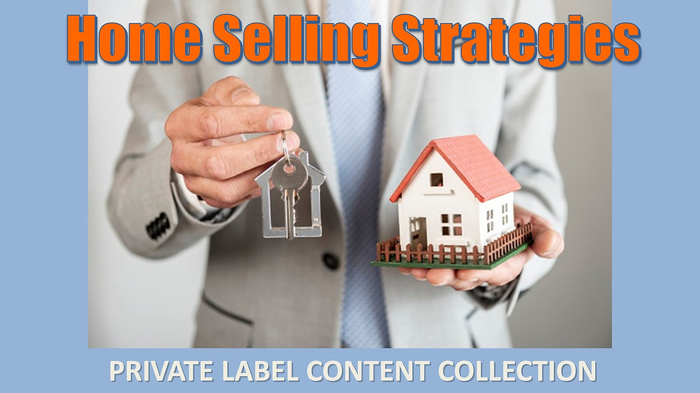 Home Selling Strategies PLR Product Pack