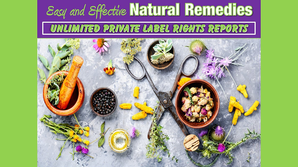 Natural Remedies Private Label Content Pack