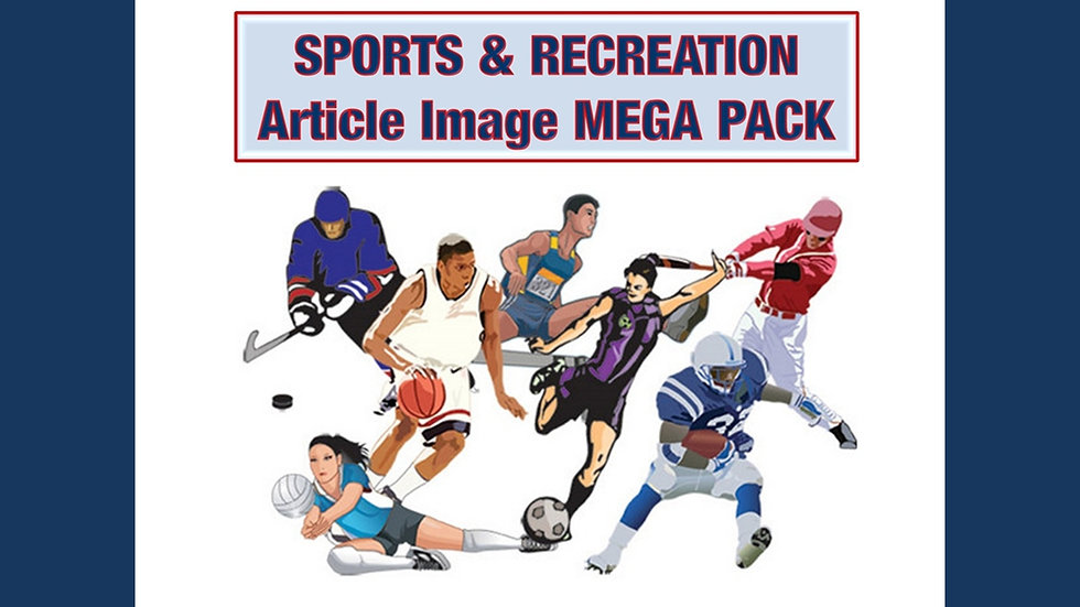 Sports and Recreation Article and Image MEGA Pack