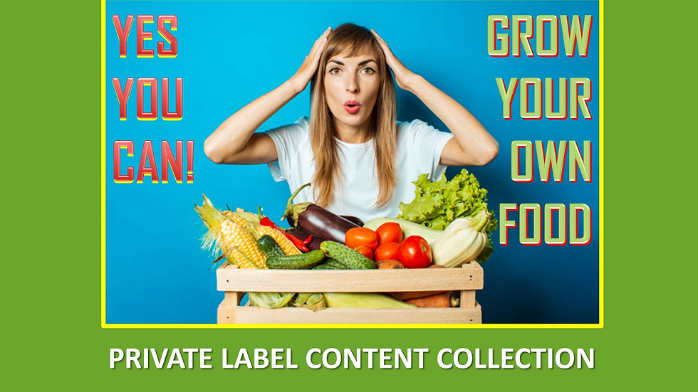 Grow Your Own Food PLR Product Pack