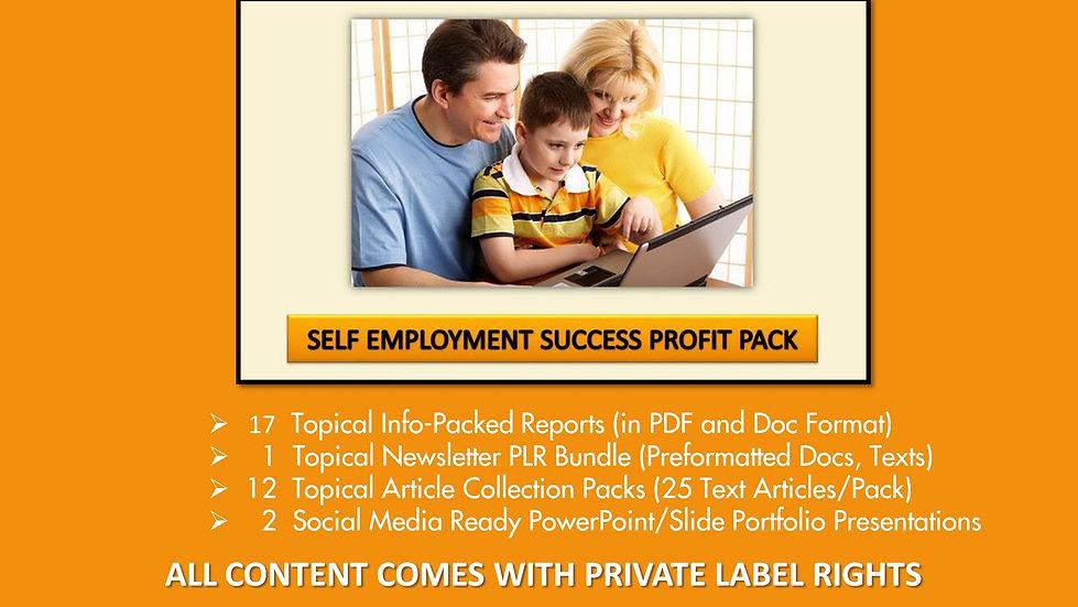 Self Employment Success Private Label Profit Pack