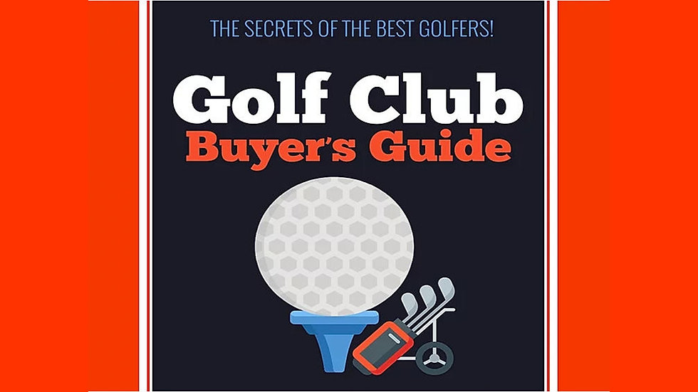 Golf Clubs Buyer's Guide PLR Pack