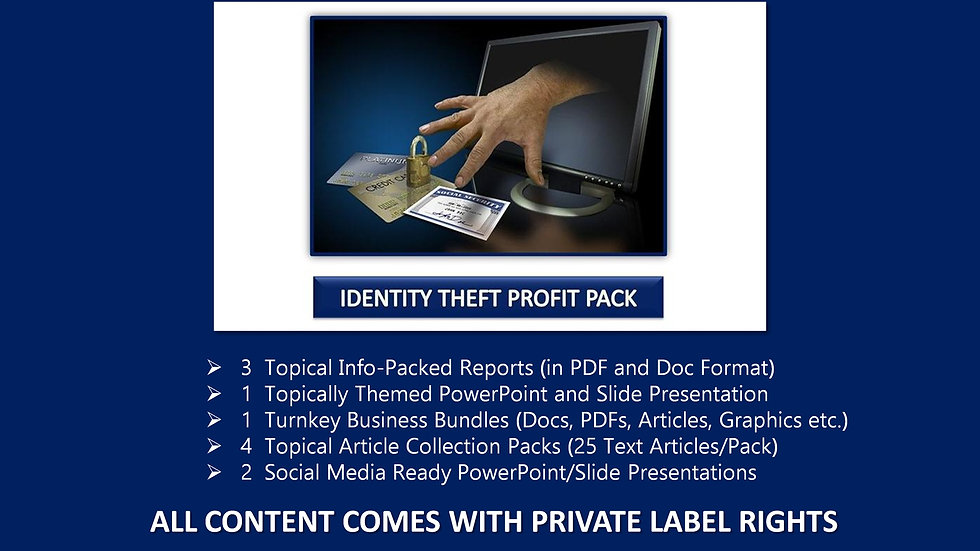 Identity Theft Private Label Profit Pack