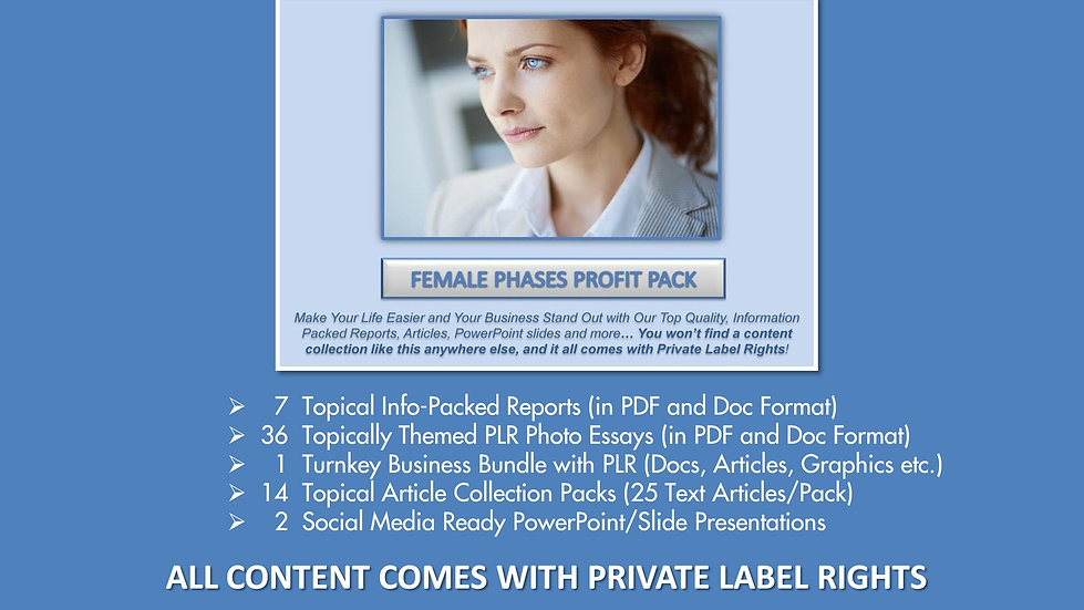 Female Phases Private Label Profit Pack