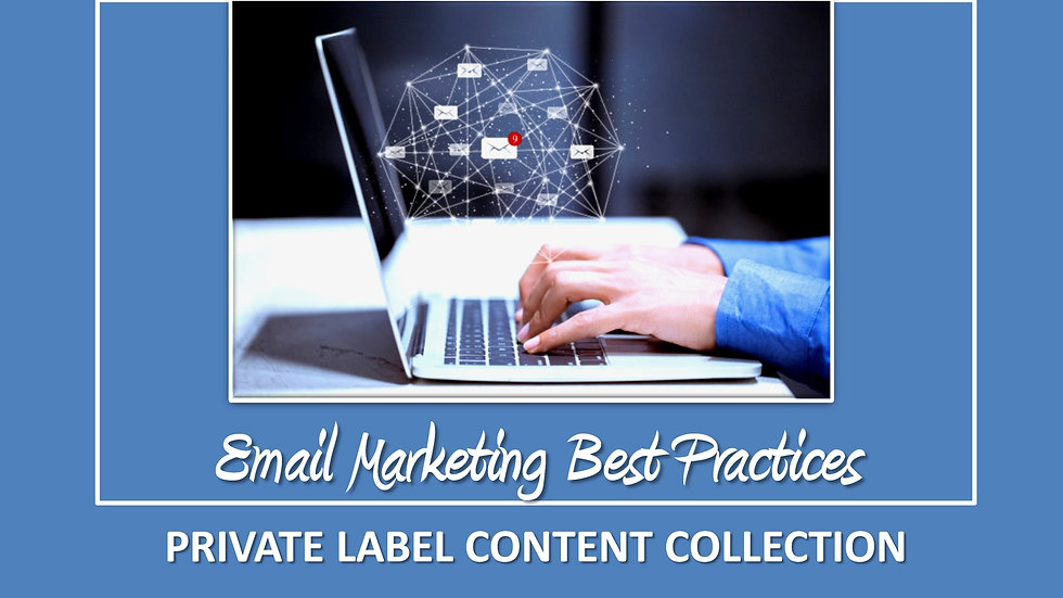 Email Marketing Best Practices PLR Pack
