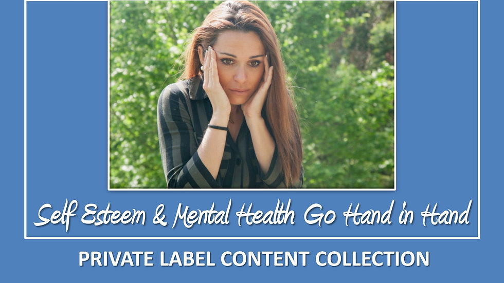 Self Esteem and Mental Health Go Hand In Hand PLR Pack