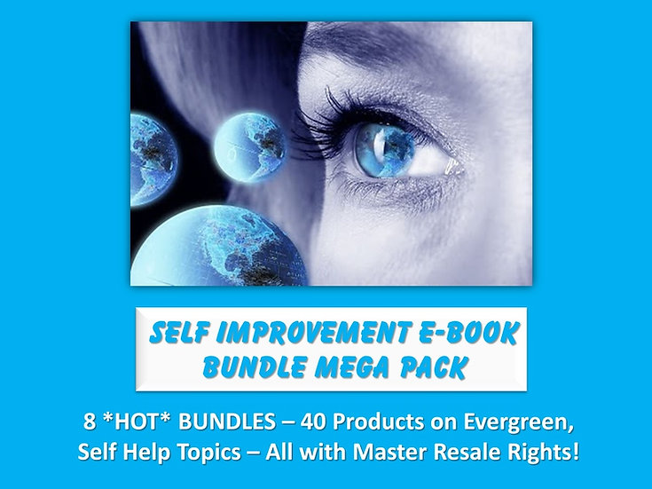 Self Improvement eBook Bundle MEGA Pack with PLR