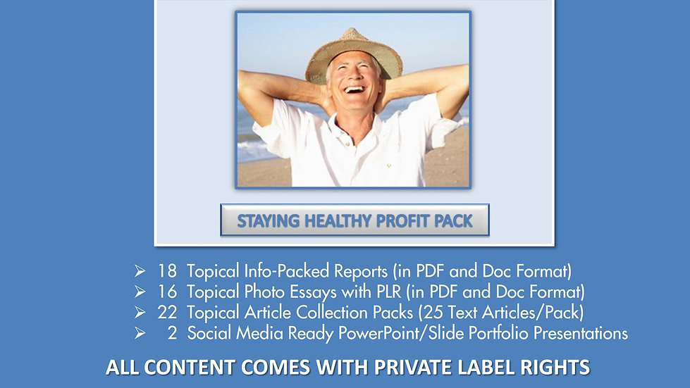 Staying Healthy Private Label Profit Pack