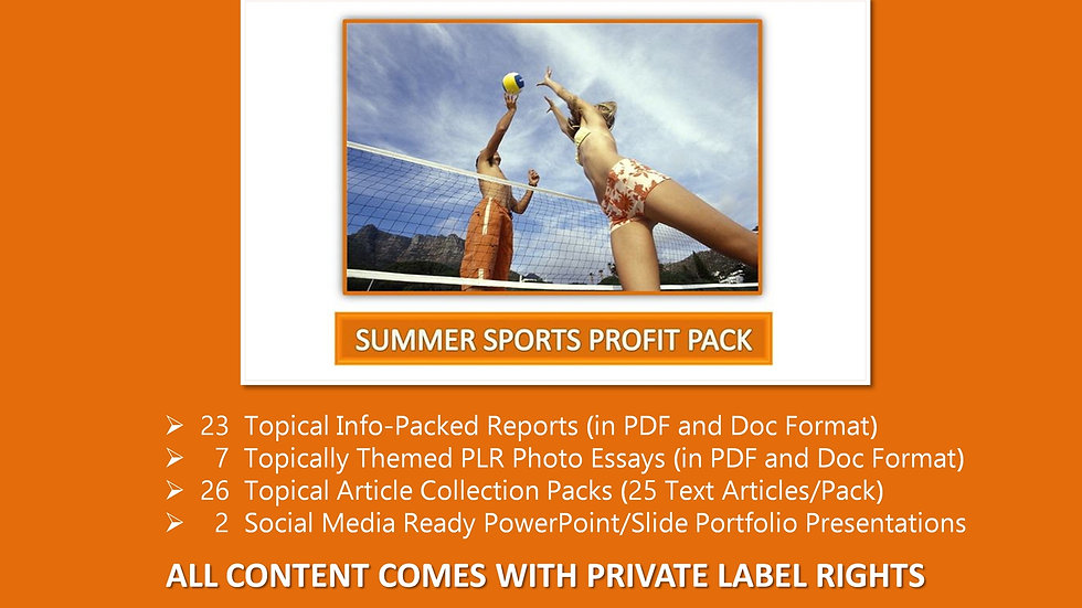 Summer Sports Private Label Profit Pack